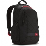 "Case logic DLBP114K Notebook Sporty Backpack/ For 14""/ Polyester/ Black/"