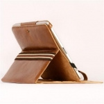 Jivo Executive Case for iPad - Brown Leather Buckle with Stand