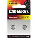 Camelion Alkaline Button celles 1,5V AG12-BP2 LR43 / 386 / 186, 2pcs Blis