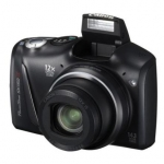 Canon PowerShot SX150 IS Black, 14.1 Mpixel/ 12x optical zoom/ wide-angle