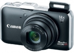 Canon CAMERA 12MP 14X ZOOM SX230 HS/BLACK POWERSHOT 5043B001