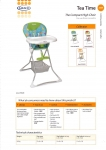 Graco 3T98GTAE TEA TIME HIGHCHAIR GRETA