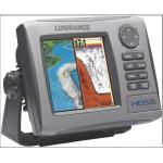 "Lowrance HDS-5 no transducer - 5"" combination chartplotter/fishfinder with worldwide background map, no transducer"