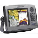 "Lowrance HDS-7 no transducer - 6.4"" combination chartplotter/fishfinder with worldwide background map, no transducer"